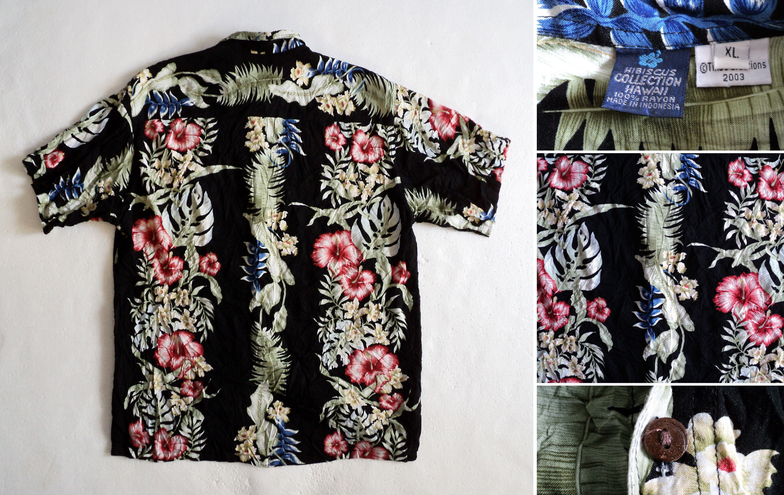 Hawaii, Hibiscus-Collection, back, XL, kzyshop