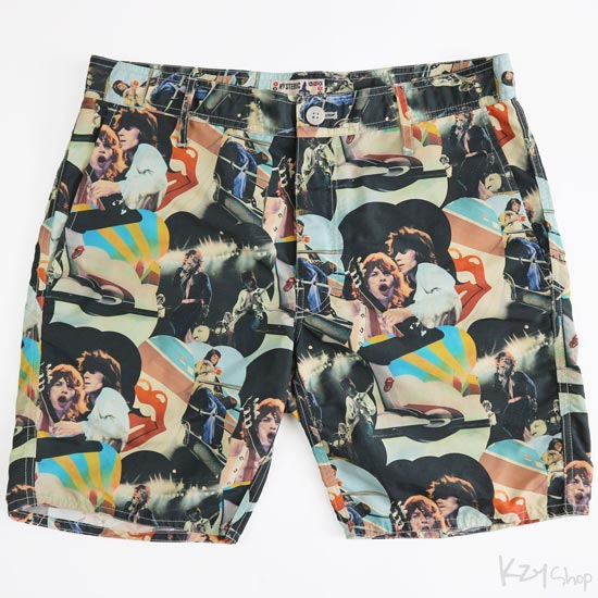 HYSTERIC GLAMOUR - THE ROLLING STONES 30TH ANNIVERSARY pattern shorts