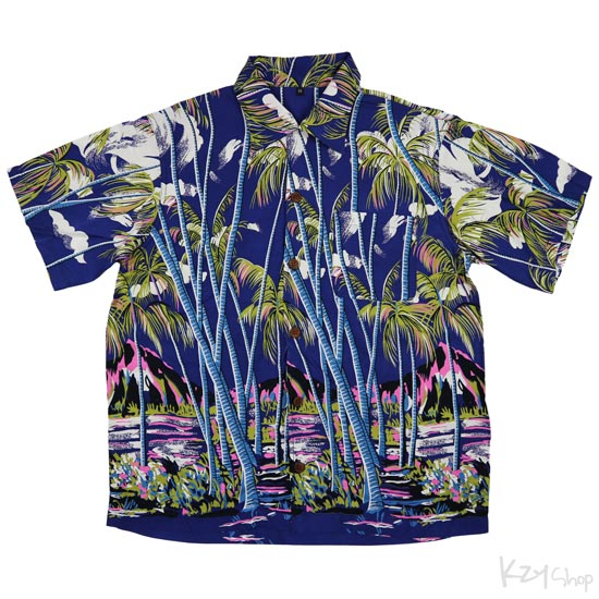เสื้อฮาวาย UNDERLINE - COCONUT PALMS & DIAMOND HEAD
