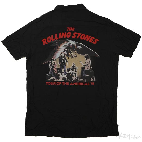 เสื้อฮาวาย HYSTERIC GLAMOUR - THE ROLLING STONES TOUR OF THE AMERICAS 75