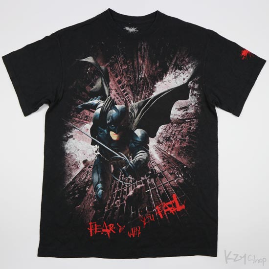 เสื้อยืด BATMAN THE DARK KNIGHT RISES - FEAR IS WHY YOU FAIL