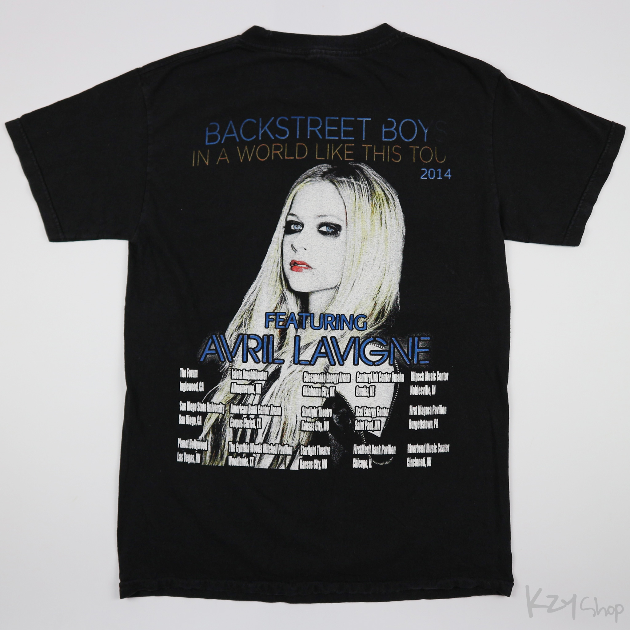 เสื้อยืด BACKSTREET BOYS IN A WORLD LIKE THIS TOUR 2014 FEATURING AVRIL LAVIGNE