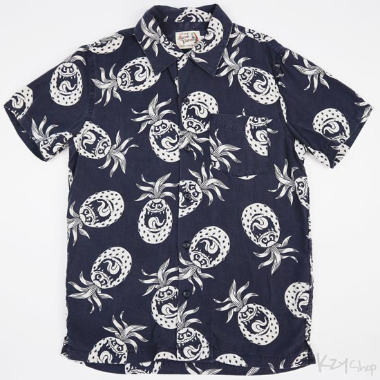 เสื้อฮาวาย HYSTERIC GLAMOUR - ST MONSTER (Navy)