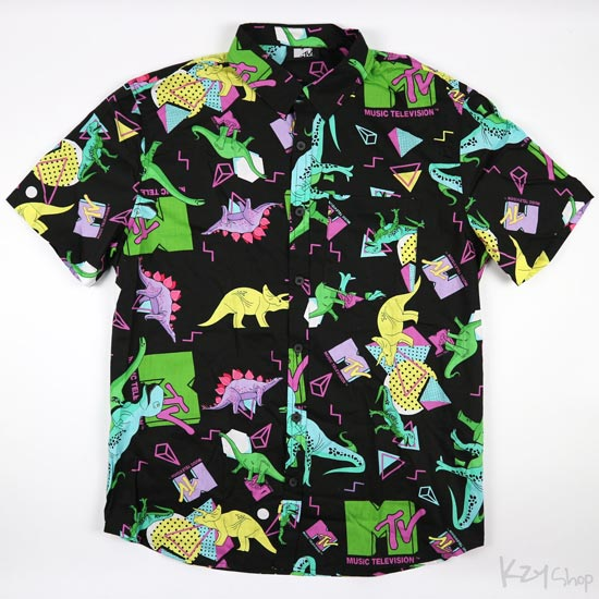 MTV Dinosaur - Button Down Shirt